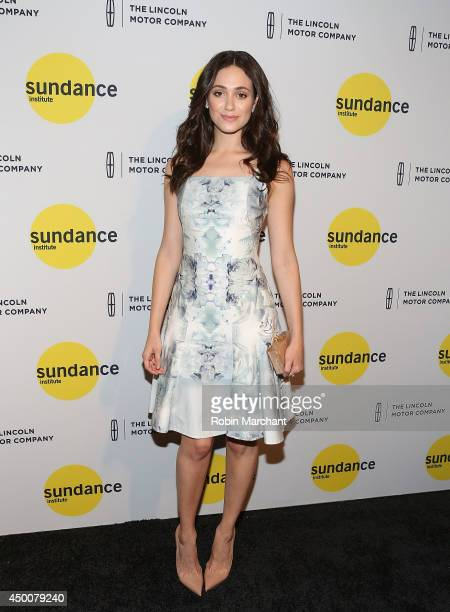 Actress Emmy Rossum attends the Sundance Institute Vanguard Leadership Award honoring Glenn Close at Stage 37 on June 4 2014 in New York City