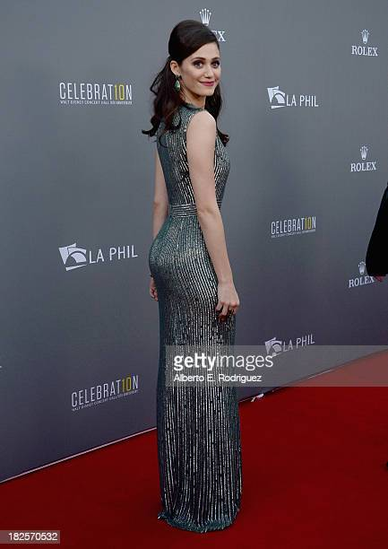 Actress Emmy Rossum attends the Walt Disney Concet Hall's 10th Anniversary Gala at the Walt Disney Concert Hall on September 30 2013 in Los Angeles...