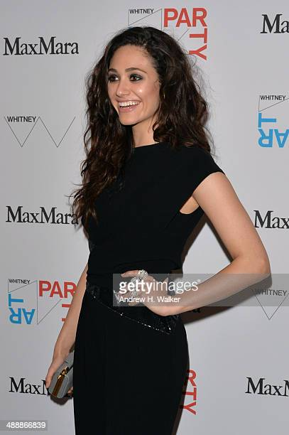Actress Emmy Rossum attends the Whitney Art Party sponsored by Max Mara at Highline Stages on May 8 2014 in New York City