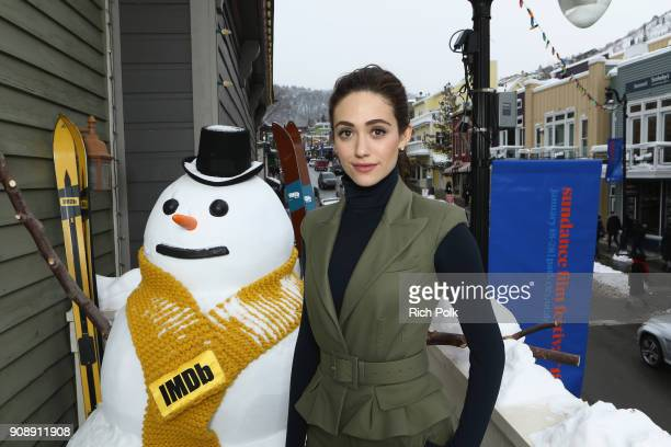 Actress Emmy Rossum from 'A Futile and stupid gesture' attends The IMDb Studio and The IMDb Show on Location at The Sundance Film Festival on January...