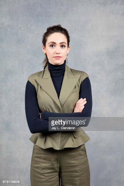 Actress Emmy Rossum from the film 'Futile and Stupid Gesture' is photographed for Los Angeles Times on January 22 2018 in the LA Times Studio at...