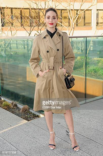 Actress Emmy Rossum is seen at High Line Park on April 7 2016 in New York City