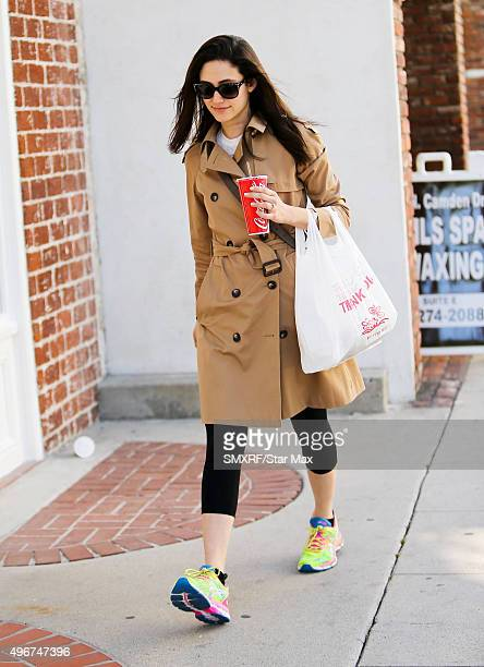Actress Emmy Rossum is seen on November 11 2015 in Los Angeles California