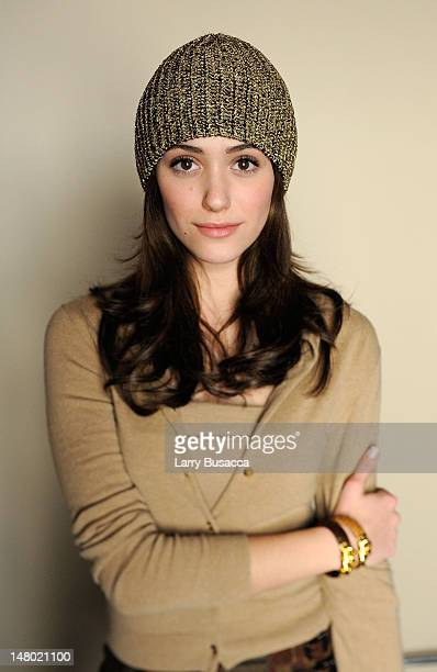 Actress Emmy Rossum poses at the Hollywood Life House on January 20 2009 in Park City Utah