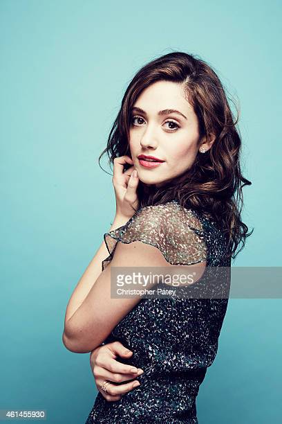 Actress Emmy Rossum poses for a portrait at the 2015 Film Independent Spirit Awards Nominee Brunch at BOA Steakhouse on January 10 2015 in Los...