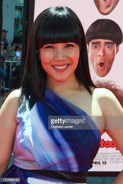 Actress Emy Coligado arrives at The Three Stooges premiere at Grauman's Chinese Theatre on April 7 2012 in Hollywood California