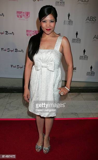 Actress Emy Coligado attends the 6th annual 'What a Pair' concert at the Orpheum Theatre on June 8 2008 in Los Angeles California