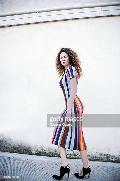 Actress Enrica Guidi is photographed for Self Assignment on December 01 2015 in Milan Italy