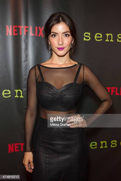 Actress Erendira Ibarra arrives at the Premiere of Sense8 at AMC Metreon 16 on May 27 2015 in San Francisco California
