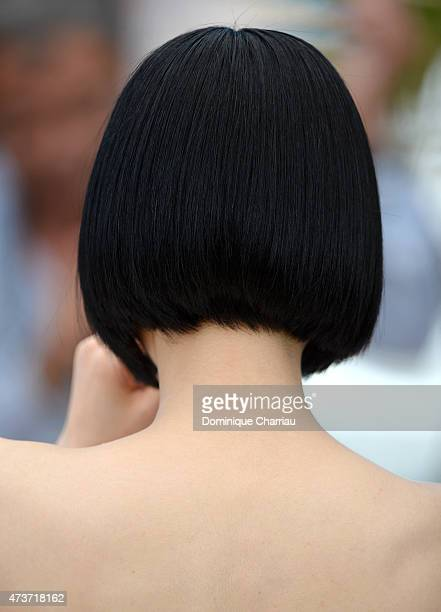 Actress Eri Fukatsu hair detail attends the 'Kishibe No Tabi' Photocall during the 68th annual Cannes Film Festival on May 17 2015 in Cannes France