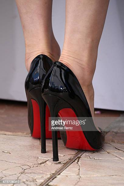 Actress Eri Fukatsu shoe detail attends a photocall for 'Kishibe No Tabi' during the 68th annual Cannes Film Festival on May 17 2015 in Cannes France