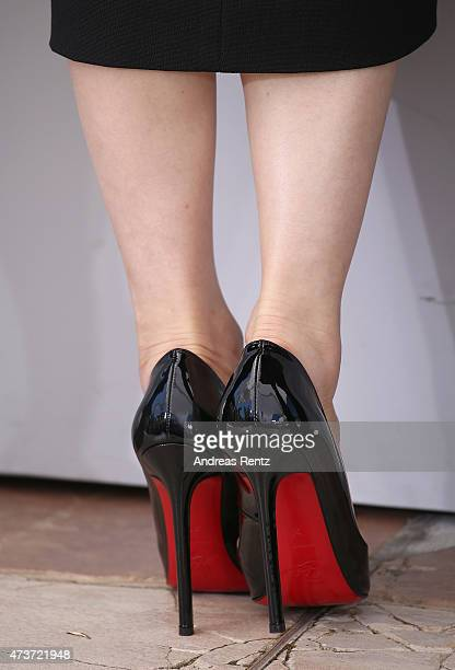 Actress Eri Fukatsu shoe detail attends the 'Kishibe No Tabi' Photocall during the 68th annual Cannes Film Festival on May 17 2015 in Cannes France
