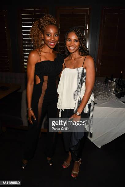 Actress Erica Ash and Alex Delotch Davis at Survivor's Remorse x Upscale Magazine Champions Table Private Dinner at American Cut on August 14 2017 in...