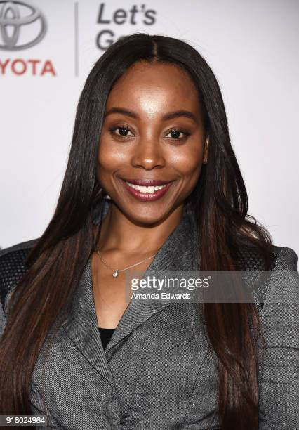 Actress Erica Ash arrives at the 2018 Women In The World Los Angeles Salon at NeueHouse Hollywood on February 13 2018 in Los Angeles California
