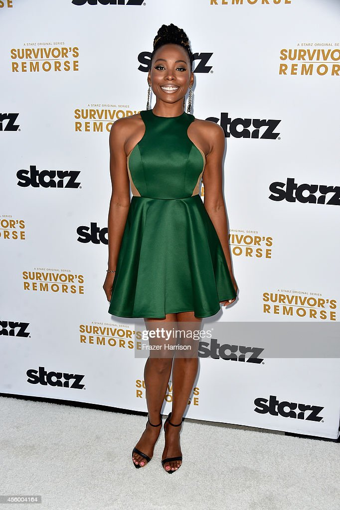Actress Erica Ash arrives at the Premiere Of Starz 'Survivor's Remorse' at Wallis Annenberg Center for the Performing Arts on September 23, 2014 in Beverly Hills, California.