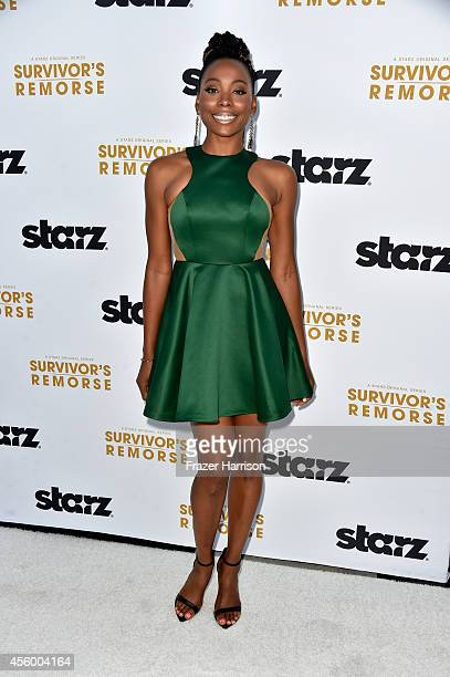 Actress Erica Ash arrives at the Premiere Of Starz 'Survivor's Remorse' at Wallis Annenberg Center for the Performing Arts on September 23 2014 in...