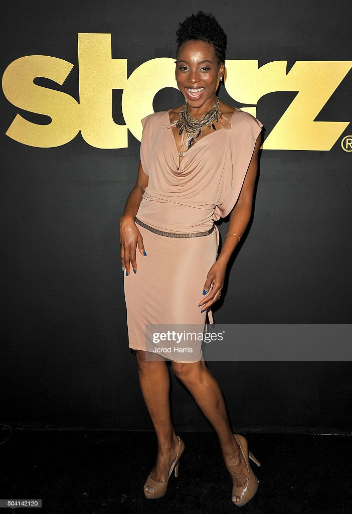 Actress Erica Ash arrives at the STARZ Pre-Golden Globe Celebration at Chateau Marmont on January 8, 2016 in Los Angeles, California.