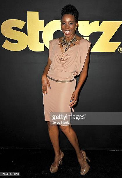 Actress Erica Ash arrives at the STARZ PreGolden Globe Celebration at Chateau Marmont on January 8 2016 in Los Angeles California