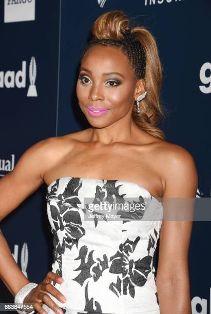Actress Erica Ash attends the 28th Annual GLAAD Media Awards in LA at The Beverly Hilton Hotel on April 1 2017 in Beverly Hills California