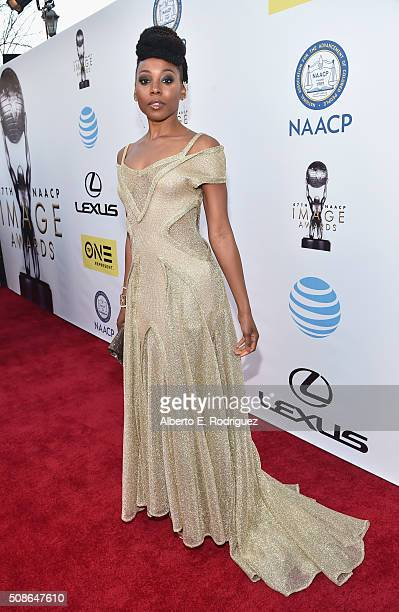Actress Erica Ash attends the 47th NAACP Image Awards presented by TV One at Pasadena Civic Auditorium on February 5 2016 in Pasadena California