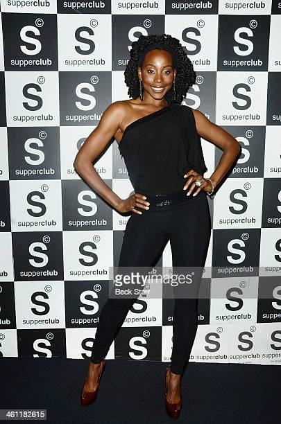 Actress Erica Ash attends The Helping Hands Campaign 'Cabaret for a Cure' at SupperClub Los Angeles on January 6 2014 in Los Angeles California