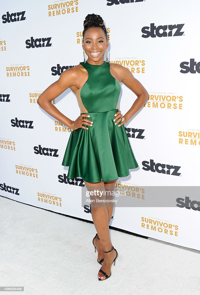 Actress Erica Ash attends the Los Angeles premiere of STARZ new series 'Survivor's Remorse' at Wallis Annenberg Center for the Performing Arts on September 23, 2014 in Beverly Hills, California.