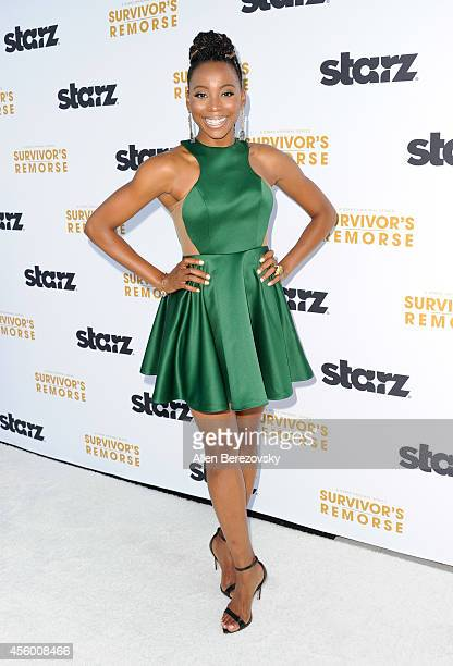 Actress Erica Ash attends the Los Angeles premiere of STARZ new series 'Survivor's Remorse' at Wallis Annenberg Center for the Performing Arts on...