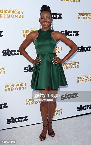 Actress Erica Ash attends the premiere of Starz 'Survivor's Remorse' at the Wallis Annenberg Center for the Performing Arts on September 23 2014 in...