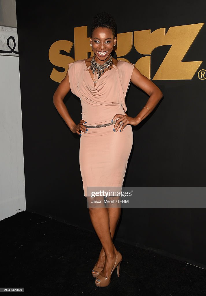 Actress Erica Ash attends the STARZ Pre-Golden Globe Celebration at Chateau Marmont on January 8, 2016 in Los Angeles, California.