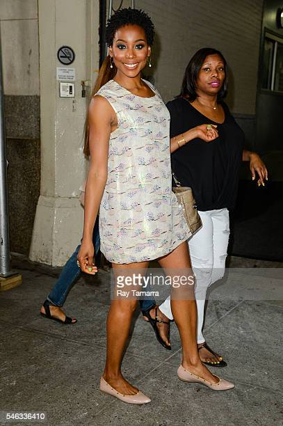 Actress Erica Ash leaves the Huffington Post Studios on July 11 2016 in New York City