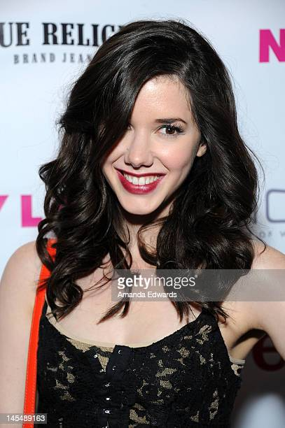 Actress Erica Dasher arrives at the NYLON Magazine June/July Music Issue Launch Party With Shirley Manson at The Roxy Theatre on May 30 2012 in West...