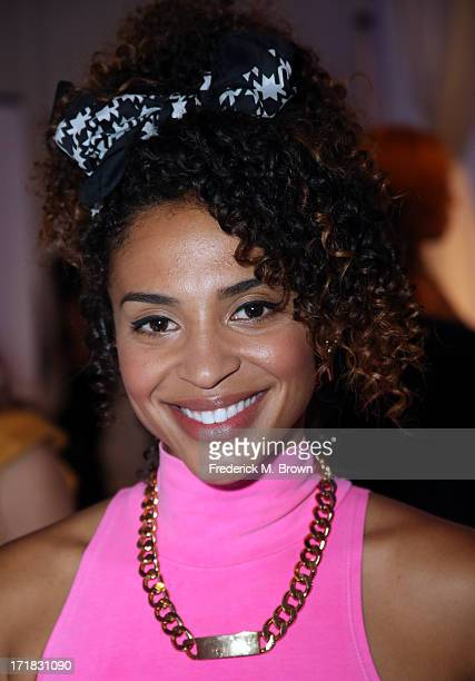 Actress Erica Dickerson attends Radio Room Day 1 during the 2013 BET Awards at JW Marriott Los Angeles at LA LIVE on June 28 2013 in Los Angeles...
