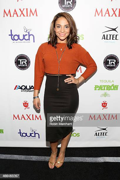 Actress Erica Dickerson attends Talent Resources Sports presents MAXIM BIG GAME WEEKEND sponsored by AQUAhydrat Heavenly Resorts Wonderful Pistachios...