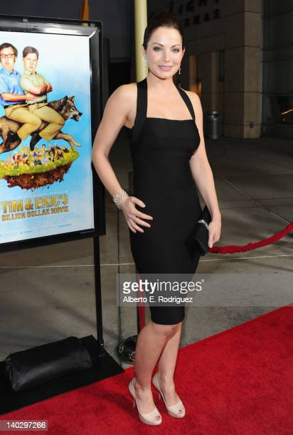 Actress Erica Durance arrives to 'Tim And Eric'$ Billion Dollar Movie' Los Angeles Premiere at ArcLight Hollywood on March 1 2012 in Hollywood...