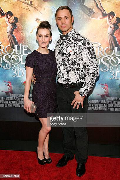 Actress Erica Linz and actor Igor Zaripov attend Cirque Du Soleil Worlds Away New York Special Screening at Regal EWalk on December 20 2012 in New...