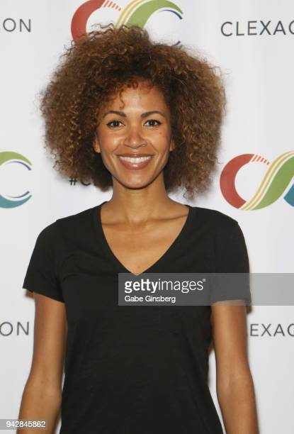 Actress Erica Luttrell attends the ClexaCon 2018 convention at the Tropicana Las Vegas on April 6 2018 in Las Vegas Nevada