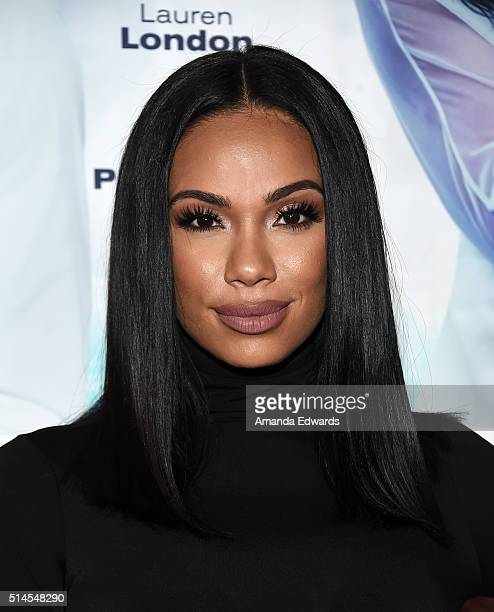 Actress Erica Mena arrives at the premiere of Lionsgate's 'The Perfect Match' at ArcLight Hollywood on March 7 2016 in Hollywood California