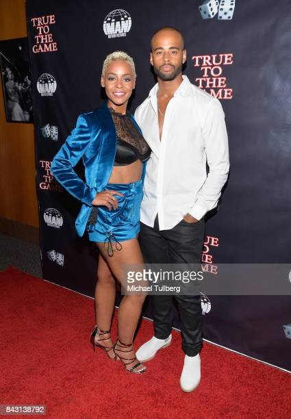 Actress Erica Peeples and guest attend the premiere of Imani Motion Pictures' True To The Game at Directors Guild Of America on September 5 2017 in...