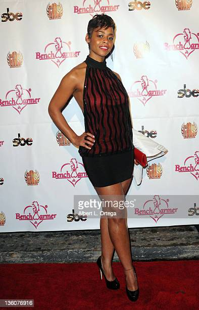 Actress Erica Peeples arrives at the 6th Annual Bench Warmer Toy Drive held at The Colony on December 17 2011 in Los Angeles California