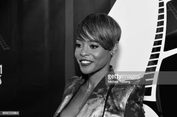 Actress Erica Peeples attends the 4th Annual CineFashion Film Awards at El Capitan Theatre on October 8 2017 in Los Angeles California