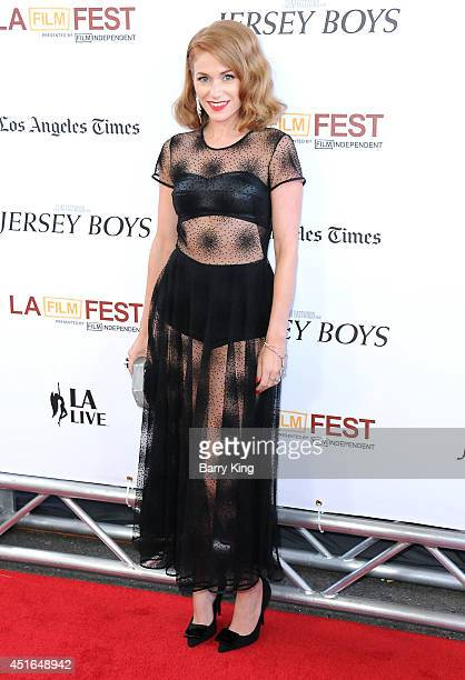Actress Erica Piccininni attends the 2014 Los Angeles Film Festival closing night premiere of 'Jersey Boys' at Premiere House on June 19 2014 in Los...
