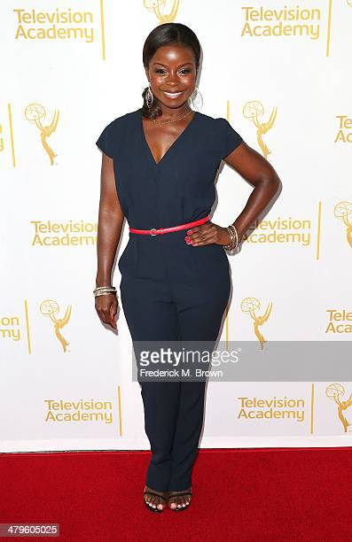 Actress Erica Tazel attends The Television Academy Presents an Evening with Justified at the Leonard H Goldenson Theatre on March 19 2014 in...