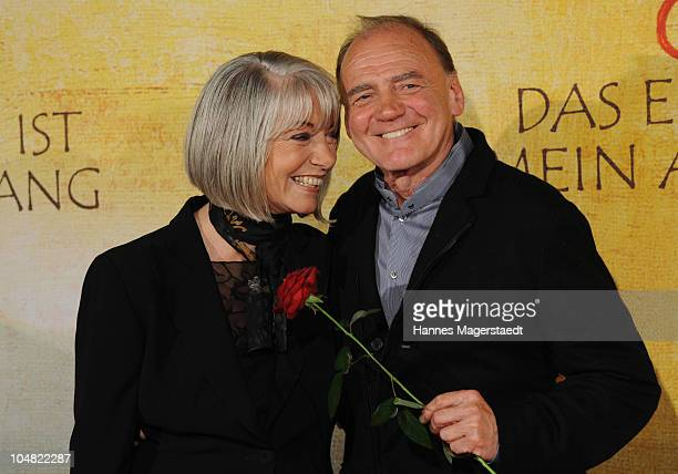 Actress Erika Bluhar and Bruno Ganz attend the premiere of 'Das Ende Ist Mein Anfang' at the City Kino on October 5 2010 in Munich Germany
