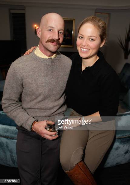 Actress Erika Christensen and Cole Maness attend Lisa Hoffman Fragrance Jewelry Event 2012 at Chateau Marmont on January 27 2012 in Los Angeles...