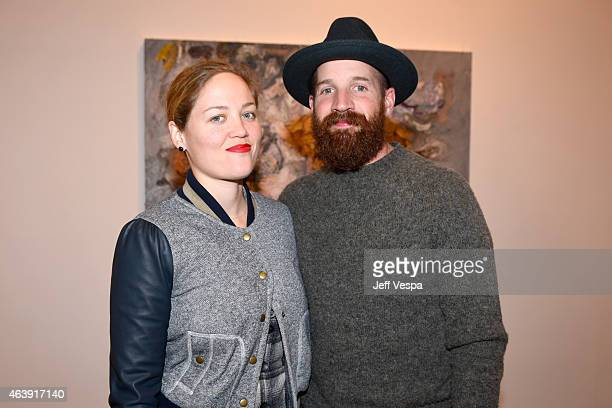 Actress Erika Christensen and Cole Maness attend Vanessa Prager Dreamers Art Opening Hosted By Fred Armisen at Richard Heller Gallery on February 19...