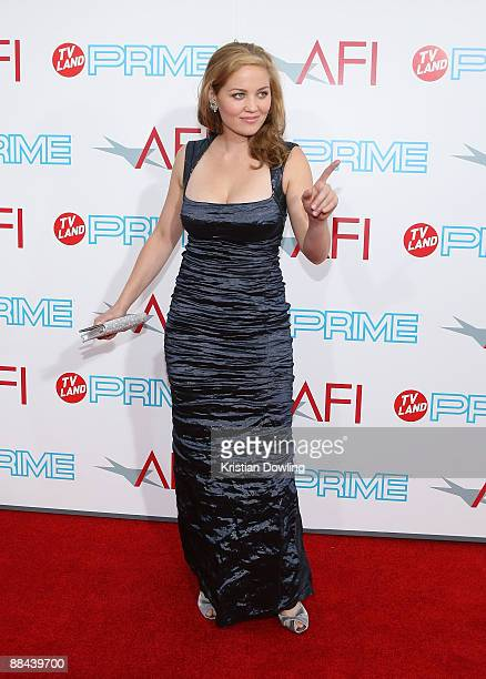Actress Erika Christensen arrives at AFI Lifetime Achievement Award A Tribute to Michael Douglas held at Sony Pictures Studios on June 11 2009 in...