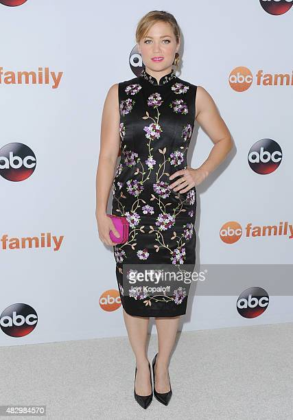 Actress Erika Christensen arrives at Disney ABC Television Group's 2015 TCA Summer Press Tour at the Beverly Hilton Hotel on August 4 2015 in Beverly...