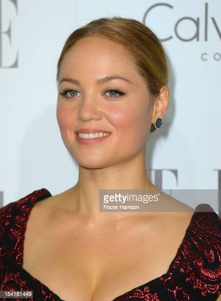 Actress Erika Christensen arrives at ELLE's 19th Annual Women In Hollywood Celebration at the Four Seasons Hotel on October 15 2012 in Beverly Hills...
