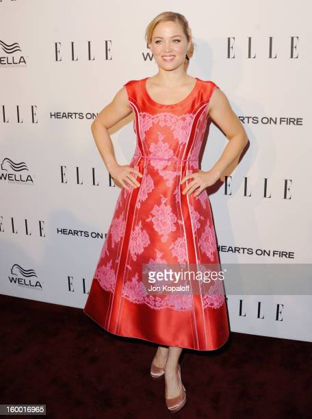 Actress Erika Christensen arrives at ELLE's 2nd Annual Women In TV Event at Soho House on January 24 2013 in West Hollywood California