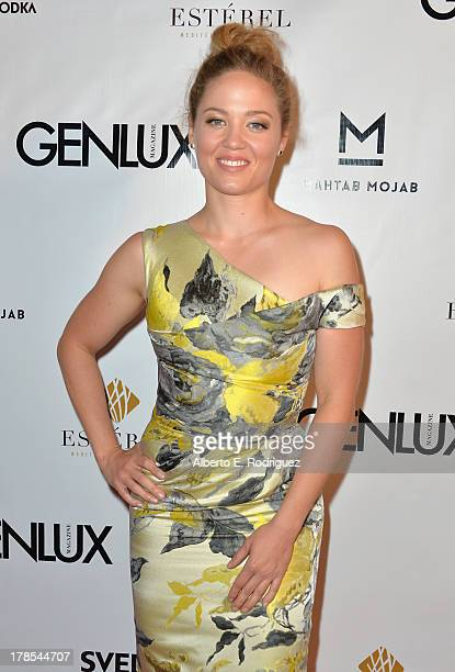 Actress Erika Christensen arrives to Genlux Magazine's Issue Release party featuring Erika Christensen at The Sofitel Hotel on August 29 2013 in Los...